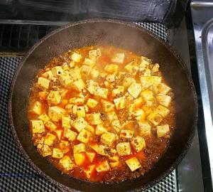 麻婆豆腐調理行程