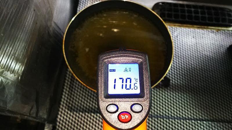 トンカツの揚げ温度は170度
