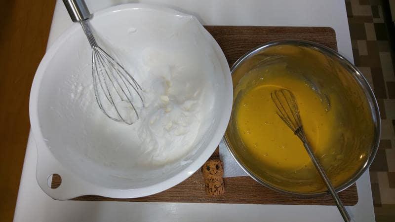 メレンゲと卵黄