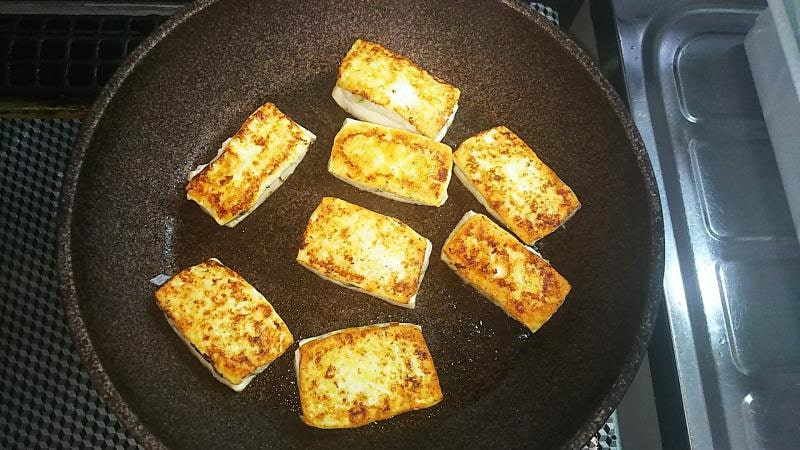 豆腐のはさみ焼きレシピ 焼き上がり