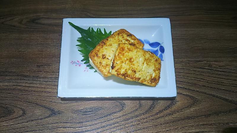 豆腐のはさみ焼き