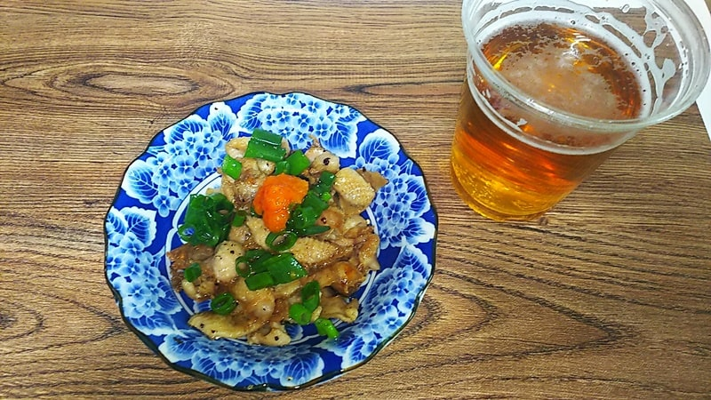 鶏皮ポン酢レシピ 完成