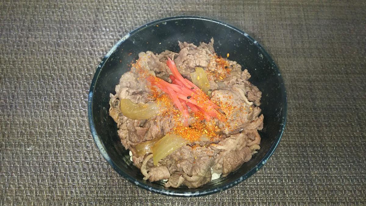 炒り豆腐で牛丼
