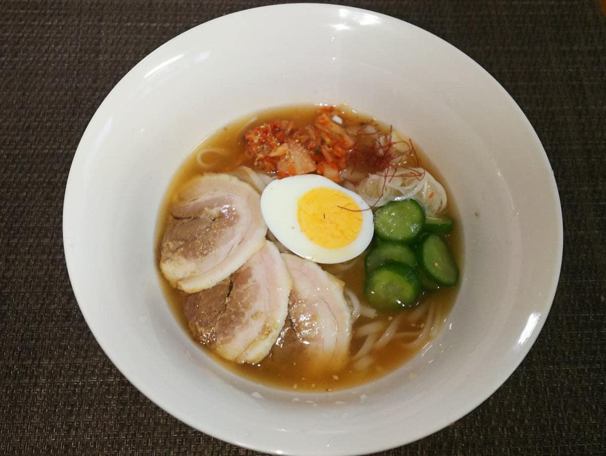 紀文糖質0g麺で作る冷麺
