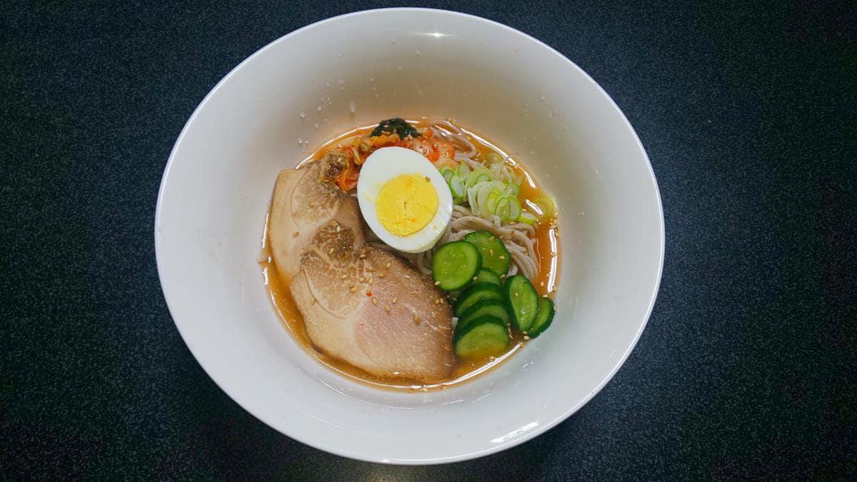 低糖質な「そば」で作る和風冷麺